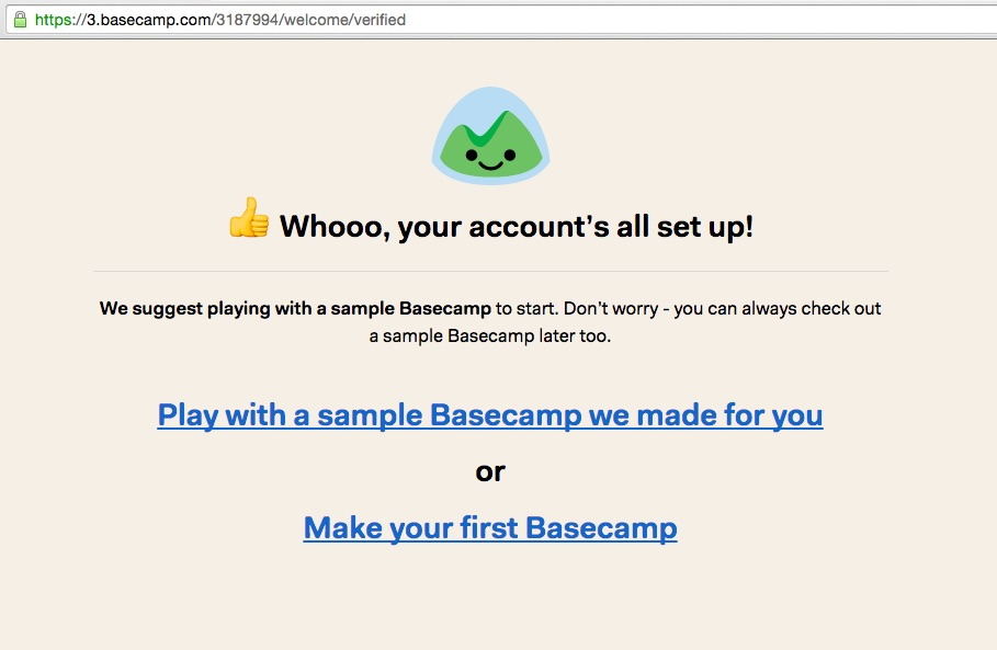 Basecamp_signup_success screenshot
