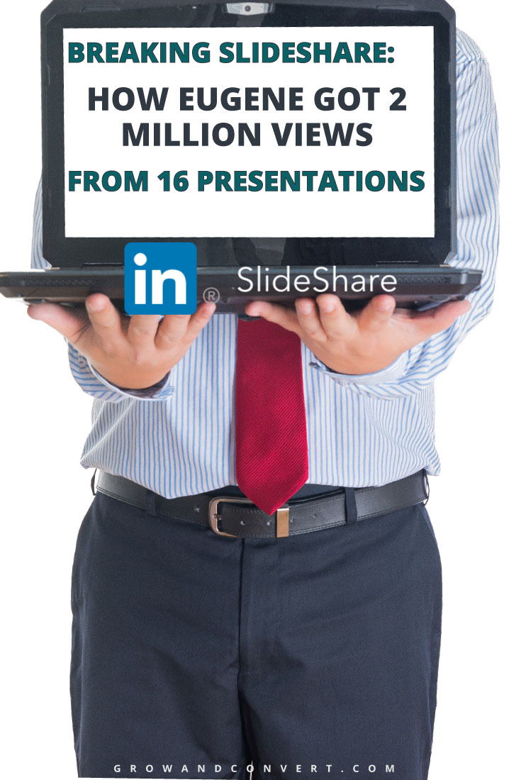 Here's a great story about how one guy nearly broke SlideShare (LinkedIn's social platform for presentations) with only 16 slideshows. He breaks it down in a way that makes me want to start uploading my slides!