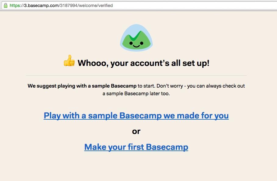 Basecamp_signup_success screenshot