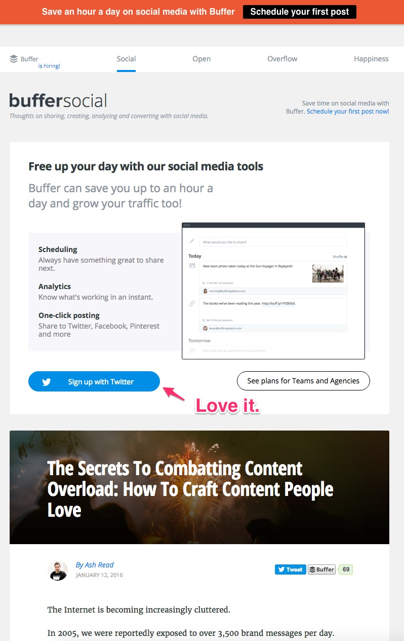 Featurebox Recommendation: Use A Featurebox If You're Interested In Driving  Blog Traffic To Your Main Site With The Goal Of Having A User Sign Up For