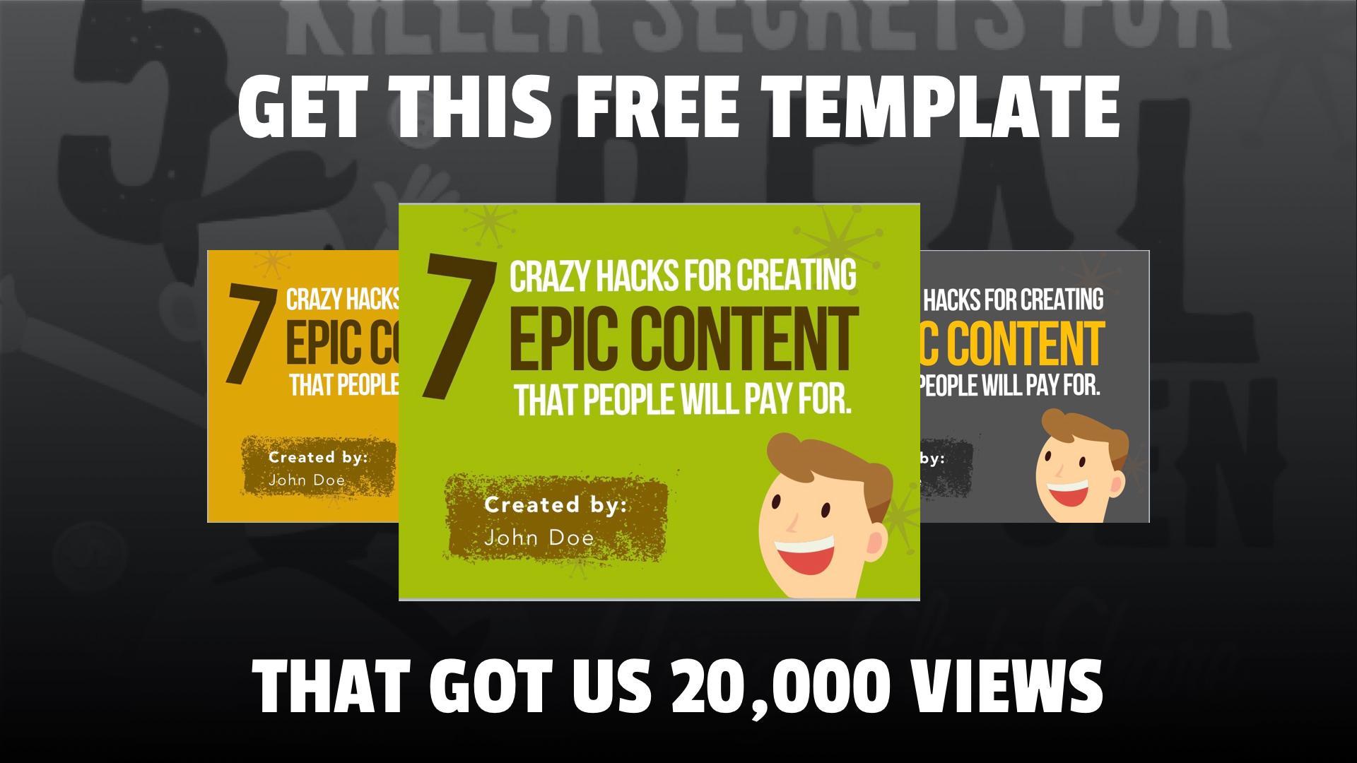 slideshare how i got 2 000 000 views presentation examples