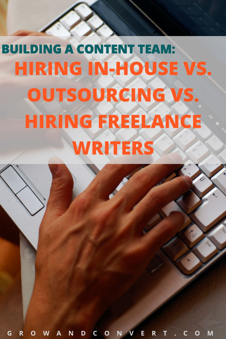 building a content team hiring in house vs outsourcing vs this is content marketing gold for people who do blogging for business and copywriting putting