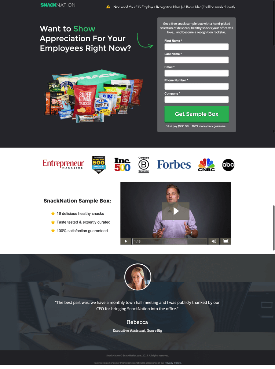 employee-appreciation-landing-page