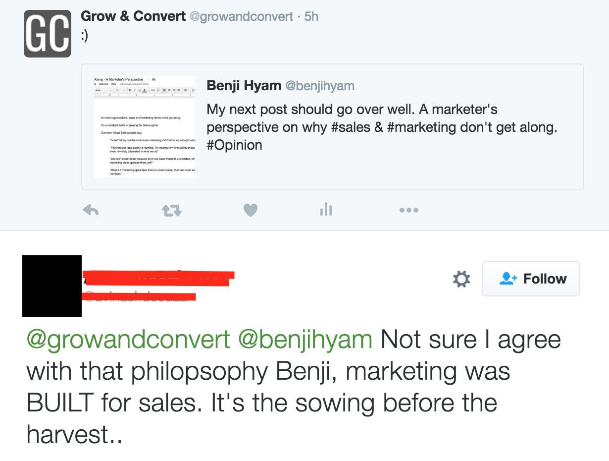 marketing sales perspective