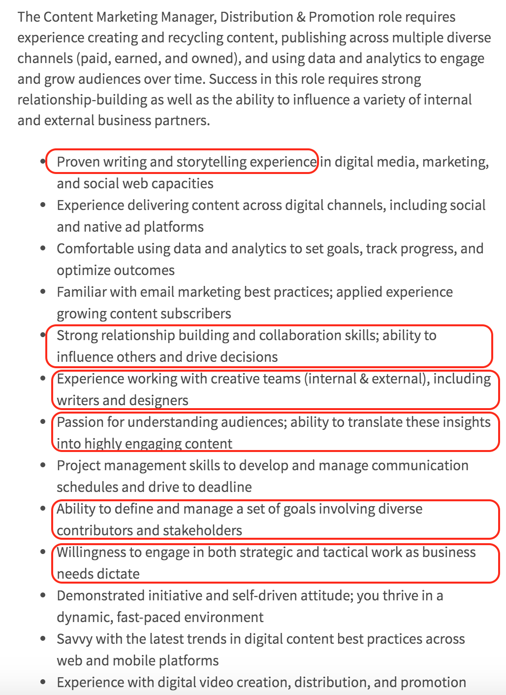 Marketingjobdescription