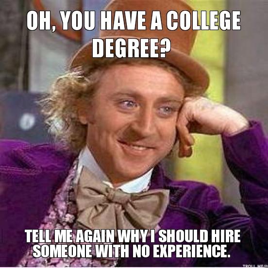 college degree marketing job