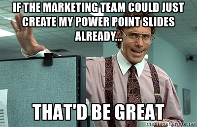 sales marekting create powerpoint meme