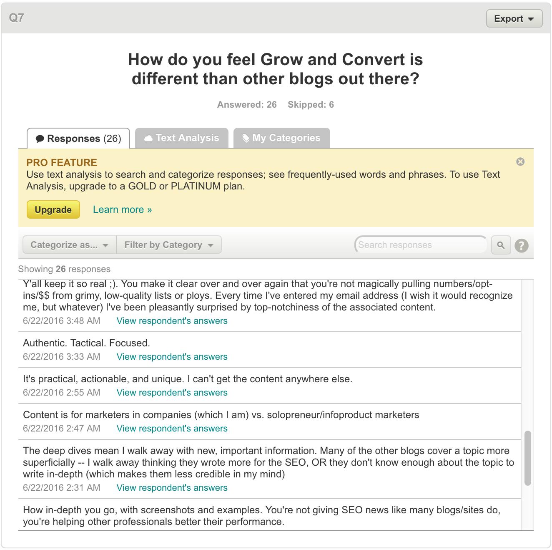 user research how growandconvert different