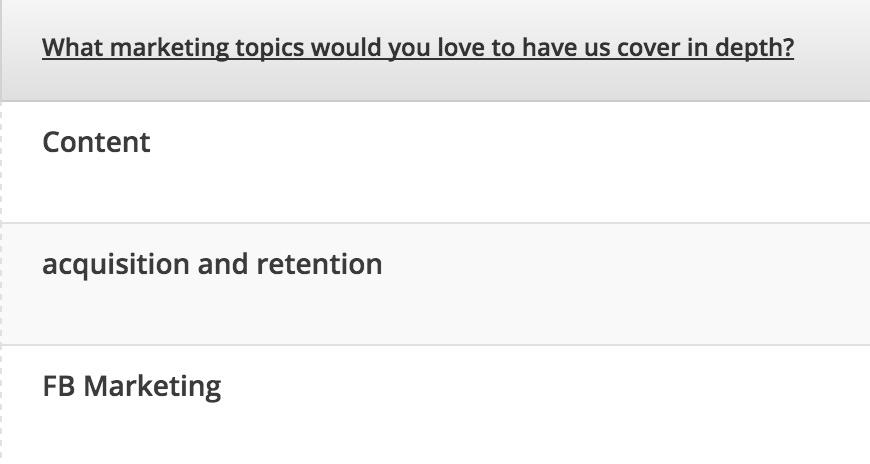 Hotjar poll responses