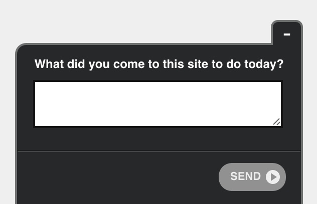 on site customer feedback survey